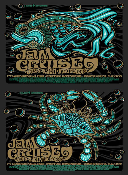 2011 Cloud 9 Adventures Jam Cruise 9 Music Fest Single & Uncut Editions