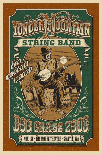 2003 Yonder Mountain String Band BooGrass Show Poster 2nd Night