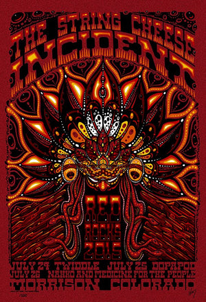 2015 String Cheese Incident Red Rocks - Zen Dragon Gallery