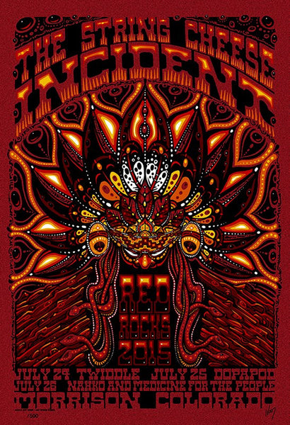 2015 The String Cheese Incident Red Rocks ALL EDITIONS