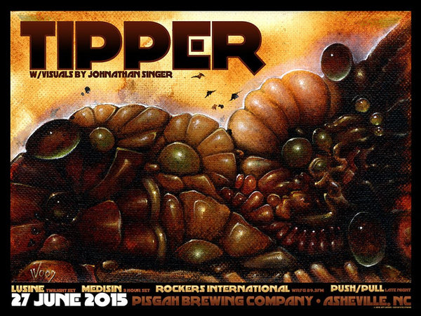 2015 Tipper Pisgah Brewery Litho Print - Zen Dragon Gallery
