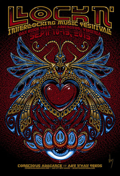 2015 Conscious Alliance Lockn' Festival Print ALL VARIANTS - Zen Dragon Gallery
