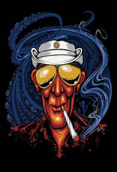 2015 Bat Country Hunter S. Thompson Art Print - Zen Dragon Gallery