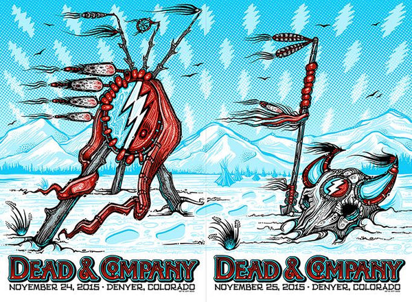 2015 Dead & Co. Denver Diptych Uncut ALL Variants - Zen Dragon Gallery