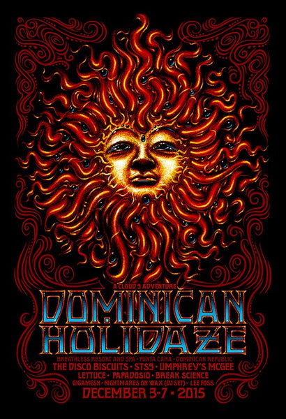 2015 Cloud 9 Dominican Holidaze Event Poster - Zen Dragon Gallery