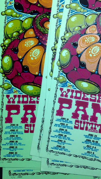 2015 Widespread Panic Summer Tour Poster ALL VARIANTS - Zen Dragon Gallery