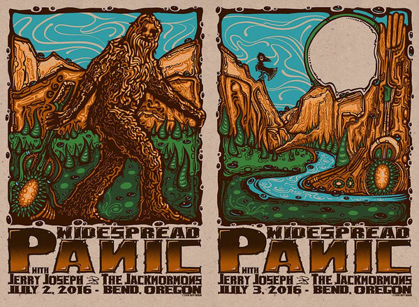 2016 Widespread Panic Bend OR ALL VARIANTS - Zen Dragon Gallery