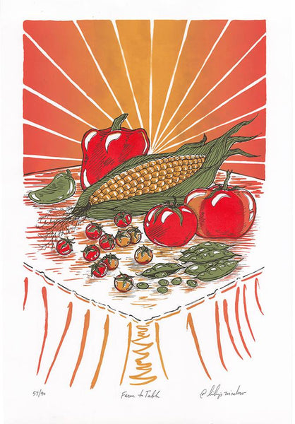 2016 Farm To School Art Print - Zen Dragon Gallery