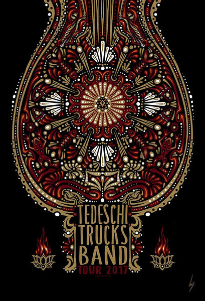 2017 Tedeschi Trucks Band Spring Tour Poster - Zen Dragon Gallery