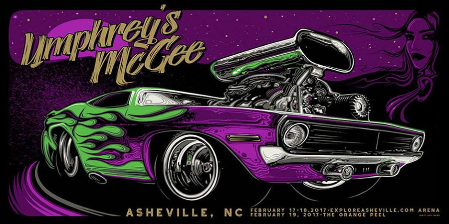 2017 Umphrey's McGee Asheville Poster ALL VARIANTS - Zen Dragon Gallery