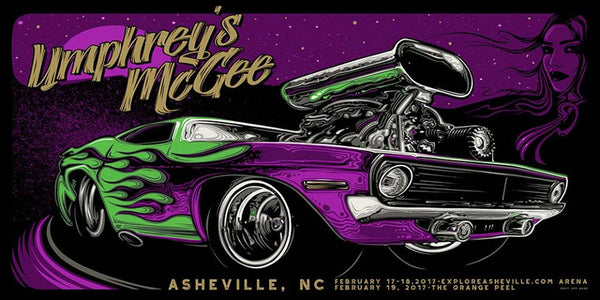 2017 Umphrey's McGee Asheville Poster ALL VARIANTS