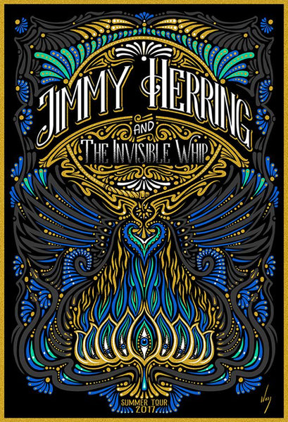 2017 Jimmy Herring and the Invisible Whip Tour Poster - Zen Dragon Gallery