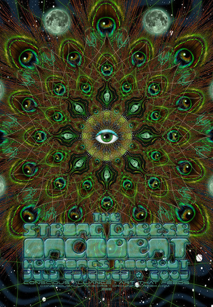 2007 The String Cheese Incident Hornings Hideout Conscious Alliance 3D Poster - Zen Dragon Gallery