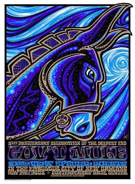 2008 Gov't Mule Deepest End Anniversary New Orleans Show Poster - Zen Dragon Gallery