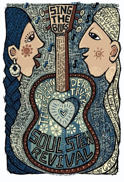 2008 Tedeschi Trucks Soul Stew Revival Tour Poster - Zen Dragon Gallery