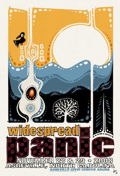 2008 Widespread Panic Asheville - Zen Dragon Gallery
