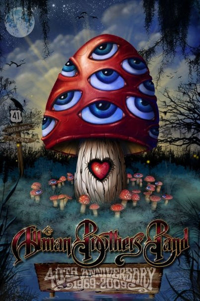 2009 The Allman Brothers Band 40th Anniversary 3D Lenticular Poster - Zen Dragon Gallery