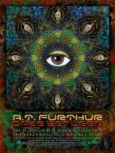 2009 A.T. Furthur Daze Between San Francisco Show Poster - Zen Dragon Gallery