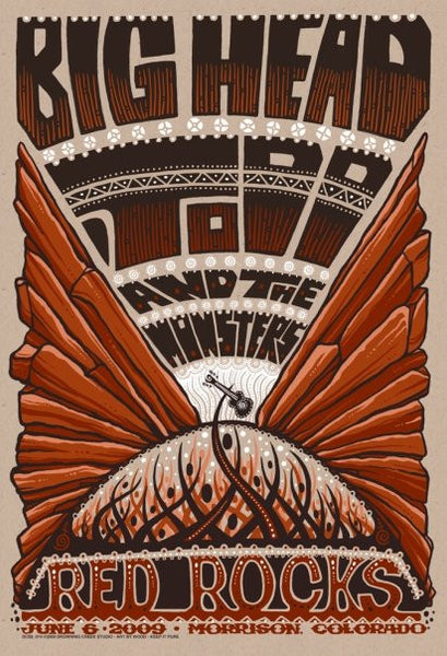 2009 Big Head Todd & The Monsters Red Rocks - Zen Dragon Gallery