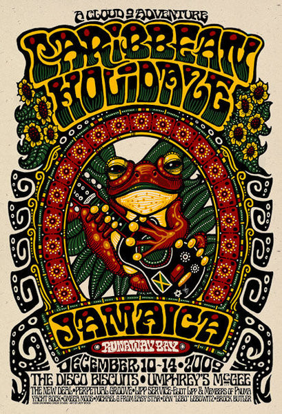 2009 Caribbean Holidaze Music Festival Event Poster - Zen Dragon Gallery