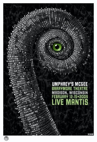 2009 Umphrey's McGee Barrymore Theatre Show Poster - Zen Dragon Gallery