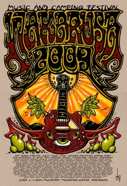 2009 Wakarusa Music Festival Event Poster - Zen Dragon Gallery