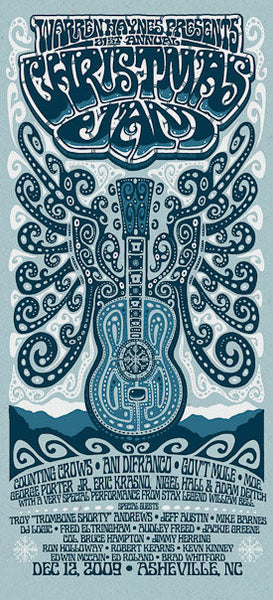 2009 Warren Haynes Christmas Jam Show Poster - Zen Dragon Gallery