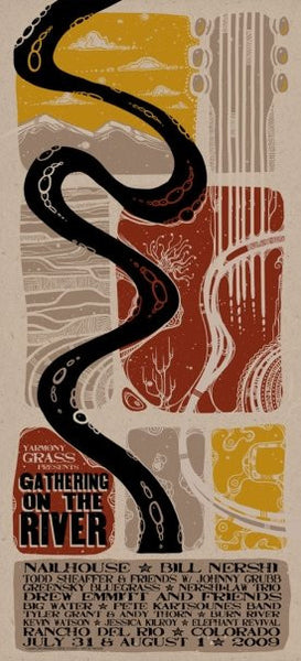 2009 Yarmony Grass Presents Gathering on the River Music Festival Poster - Zen Dragon Gallery