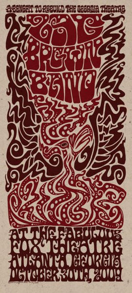 2009 Zac brown Band Fox Theatre Show Poster - Zen Dragon Gallery