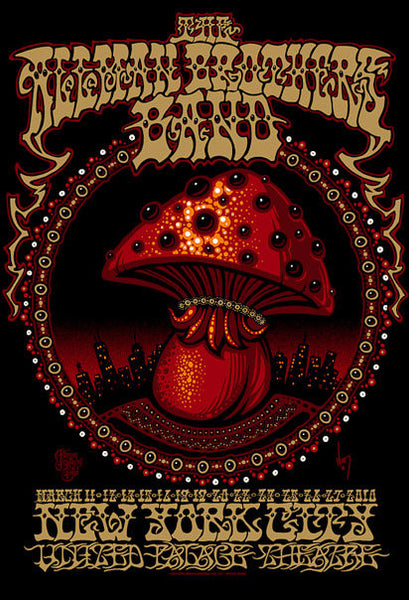2010 The Allman Brothers United Palace Theatre Poster - Zen Dragon Gallery