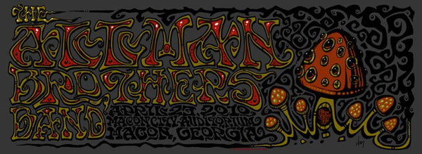 2010 The Allman Brothers Band Macon Show Poster - Zen Dragon Gallery