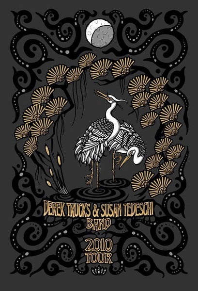 2010 Derek Trucks Susan Tedeschi Band Tour Poster - Zen Dragon Gallery