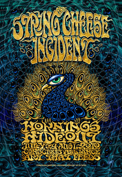 2010 The String Cheese Incident Hornings Hideout Conscious Alliance 3D Poster - Zen Dragon Gallery
