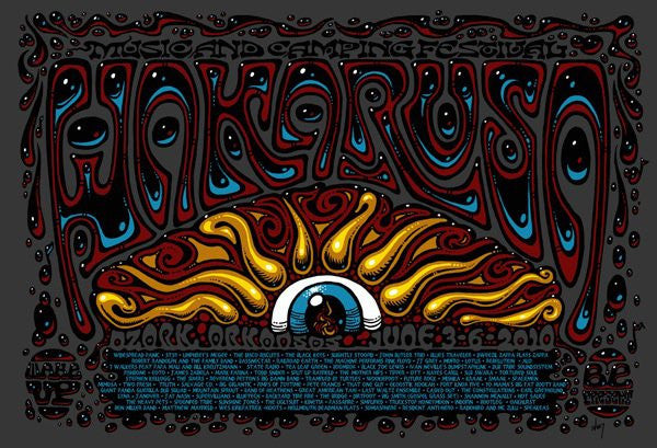 2010 Wakarusa Festival Event Poster - Zen Dragon Gallery
