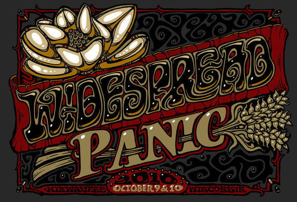 2010 Widespread Panic Milwaukee Show Poster