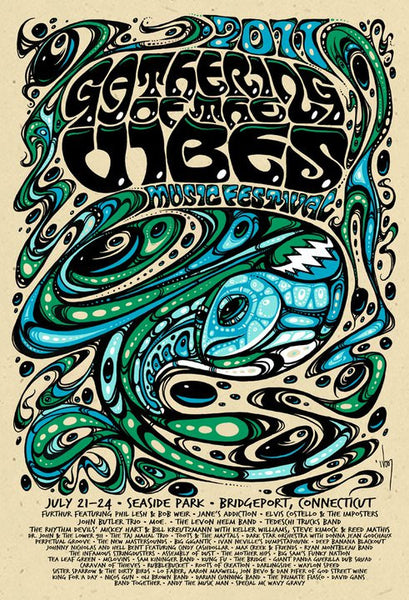 2011 Gathering of the Vibes Music Festival Poster - Zen Dragon Gallery