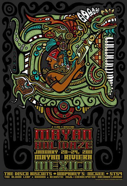 2011 Mayan Holidaze Event Poster - Zen Dragon Gallery