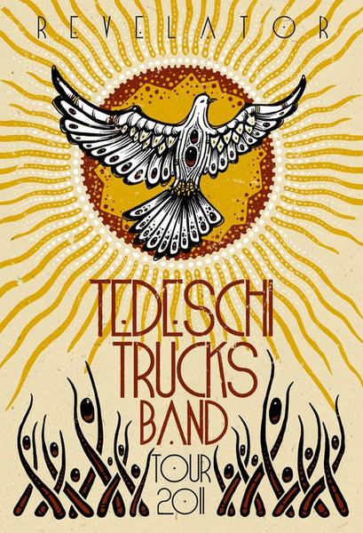 2011 Tedeschi Trucks Band Revelator Tour Poster - Zen Dragon Gallery