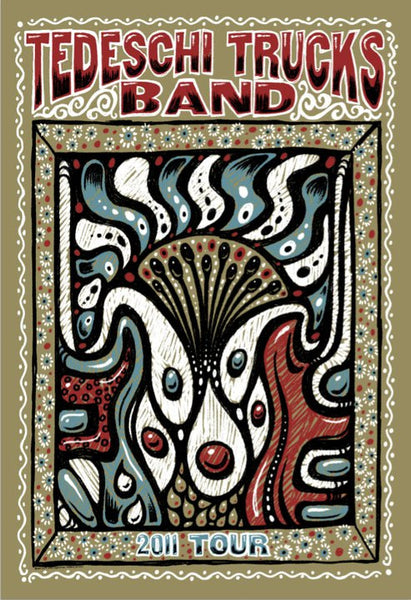 2011 Tedeschi Trucks Spring Tour Poster - Zen Dragon Gallery