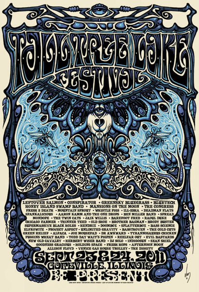 2011 Tall Tree Music Festival Event Poster