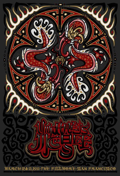 2011 Umphrey's McGee San Francisco Fillmore Run Show Poster - Zen Dragon Gallery