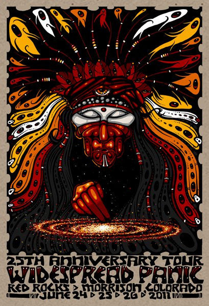 2011 Widespread Panic Red Rocks Shaman Show Poster - Zen Dragon Gallery
