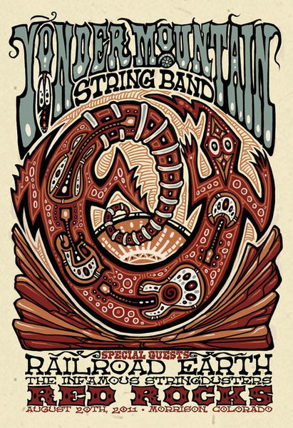 2011 Yonder Mountain String Band Red Rocks Show Poster