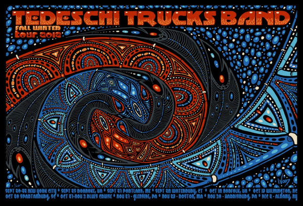 2012 The Tedeschi Trucks Band Fall Winter Tour Poster - Zen Dragon Gallery