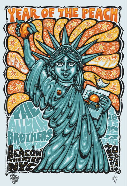 2012 The Allman Brothers Band Beacon Theatre NYC Poster - Zen Dragon Gallery