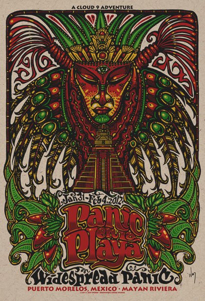 2012 Widespread Panic en la Playa Pyramid God Poster - Zen Dragon Gallery