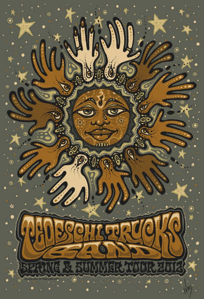 2012 Tedeschi Trucks Band Spring & Summer Tour Poster - Zen Dragon Gallery