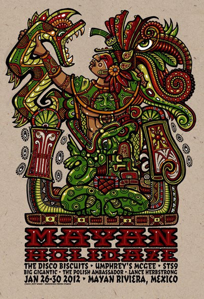 2012 January Mayan Holidaze Poster - Zen Dragon Gallery