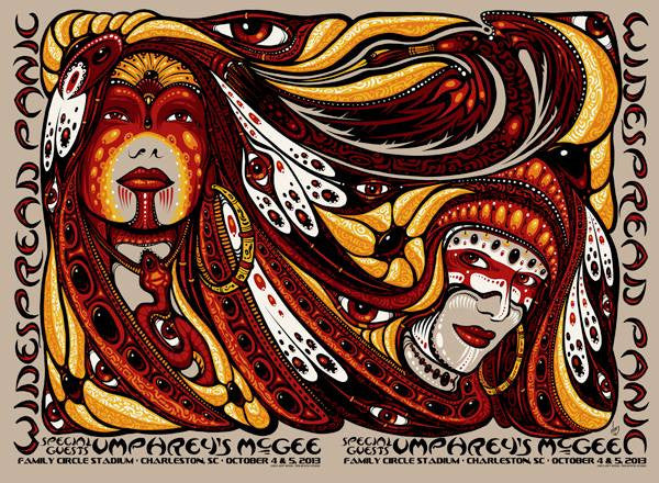 2013 Widespread Panic Umphrey's McGee Charleston Uncut All Variants - Zen Dragon Gallery