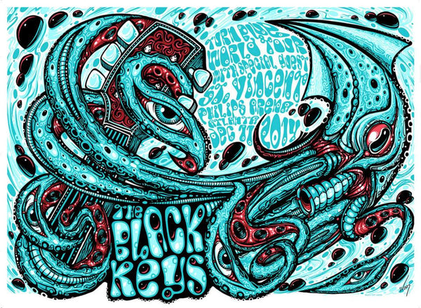 2014 The Black Keys Atlanta Show Poster ALL VARIANTS - Zen Dragon Gallery